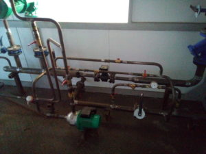 Блочная котельная установка водогрейная